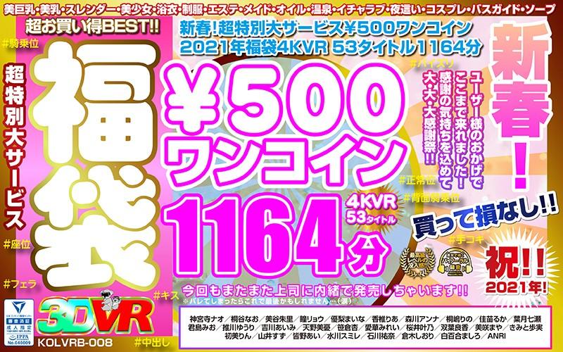 【VR】新春!超特別大サービス¥500ワンコイン福袋4KVR 53タイトル1164分の画像